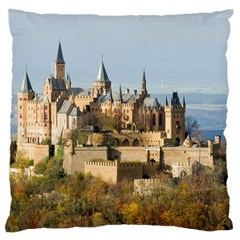 Hilltop Castle Large Flano Cushion Cases (one Side)