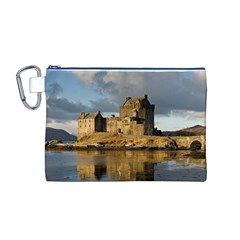 Eilean Donan Castle Canvas Cosmetic Bag (m)