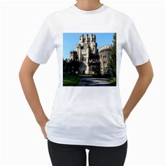 Butron Castle Women s T Shirt (white) (two Sided)