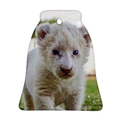 White Lion Cub Bell Ornament (2 Sides)