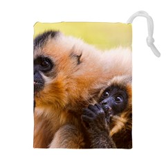 TWO MONKEYS Drawstring Pouches (Extra Large)