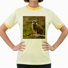 Meerkat Women s Fitted Ringer T Shirts
