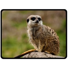 Meerkat Double Sided Fleece Blanket (large)