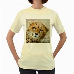 Leopard Laying Down Women s Yellow T Shirt