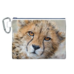 Leopard Laying Down Canvas Cosmetic Bag (l)