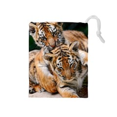 Baby Tigers Drawstring Pouches (medium)