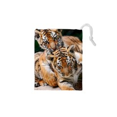 BABY TIGERS Drawstring Pouches (XS)