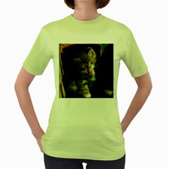 Talk To The Paw Women s Green T Shirt