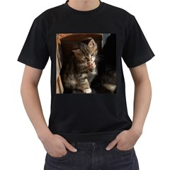 Talk To The Paw Men s T Shirt (black) (two Sided)