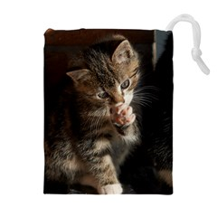 TALK TO THE PAW Drawstring Pouches (Extra Large)
