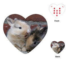 Small Baby Rabbits Playing Cards (heart)