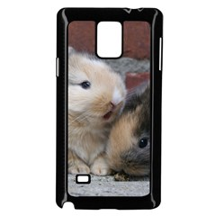 Small Baby Rabbits Samsung Galaxy Note 4 Case (black)