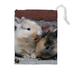 Small Baby Rabbits Drawstring Pouches (extra Large)