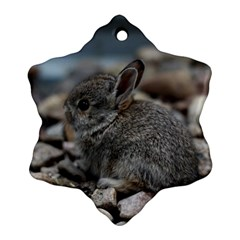 Small Baby Bunny Ornament (snowflake)