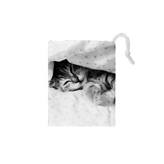 SLEEPY KITTY Drawstring Pouches (XS)