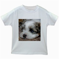 Sad Puppy Kids White T Shirts