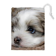 Sad Puppy Drawstring Pouches (extra Large)