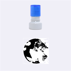 Questioning Kitty Rubber Round Stamps (small)