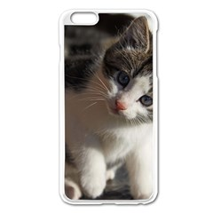 Questioning Kitty Apple Iphone 6 Plus/6s Plus Enamel White Case