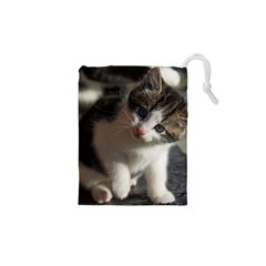 QUESTIONING KITTY Drawstring Pouches (XS)