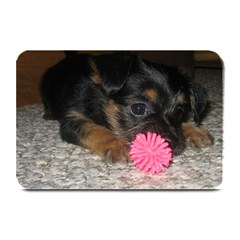 Puppy With A Chew Toy Plate Mats
