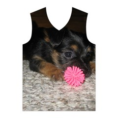 PUPPY WITH A CHEW TOY Men s Basketball Tank Top