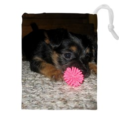 Puppy With A Chew Toy Drawstring Pouches (xxl)