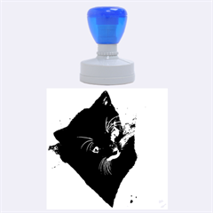Pretty Blue Eyed Kitty Rubber Round Stamps (large)