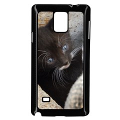 Pretty Blue Eyed Kitty Samsung Galaxy Note 4 Case (black)
