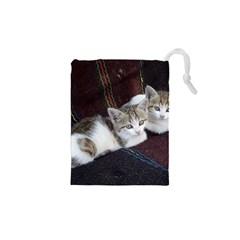 Kitty Twins Drawstring Pouches (xs)