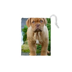 CUTE WRINKLY PUPPY Drawstring Pouches (XS)
