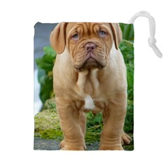 Cute Wrinkly Puppy Drawstring Pouches (extra Large)