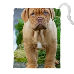 CUTE WRINKLY PUPPY Drawstring Pouches (XXL)