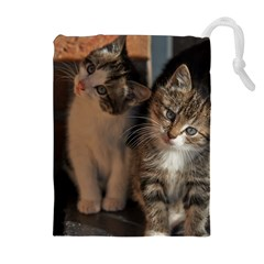 CUTE KITTIES Drawstring Pouches (Extra Large)