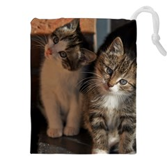 CUTE KITTIES Drawstring Pouches (XXL)