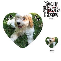 Cute Cavapoo Puppy Playing Cards 54 (heart)