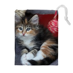 COMFY KITTY Drawstring Pouches (Extra Large)