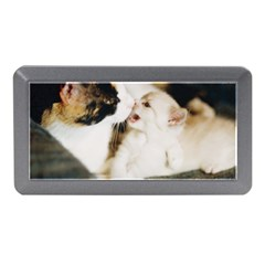 Calico Cat And White Kitty Memory Card Reader (mini)