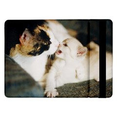 Calico Cat And White Kitty Samsung Galaxy Tab Pro 12 2  Flip Case