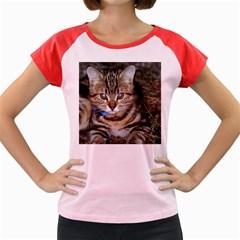 Blue Eyed Kitty Women s Cap Sleeve T Shirt