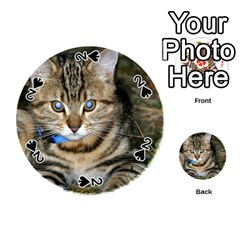 Blue Eyed Kitty Playing Cards 54 (round)