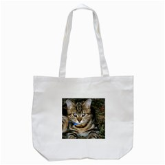 Blue Eyed Kitty Tote Bag (white)