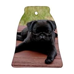 Alert Pug Puppy Bell Ornament (2 Sides)