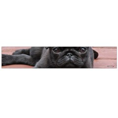 Alert Pug Puppy Flano Scarf (large)