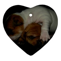 Adorable Baby Puppies Heart Ornament (2 Sides)