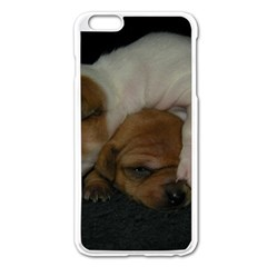 Adorable Baby Puppies Apple Iphone 6 Plus/6s Plus Enamel White Case