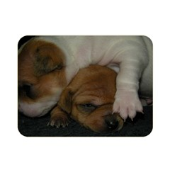 Adorable Baby Puppies Double Sided Flano Blanket (mini)
