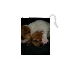 ADORABLE BABY PUPPIES Drawstring Pouches (XS)