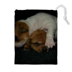 ADORABLE BABY PUPPIES Drawstring Pouches (Extra Large)
