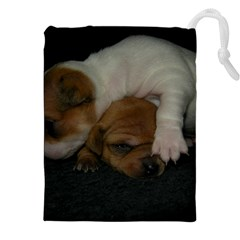ADORABLE BABY PUPPIES Drawstring Pouches (XXL)